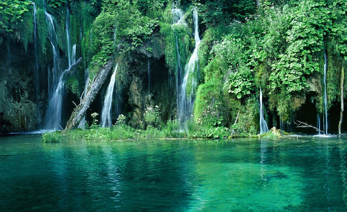 muse fitness croatia green forest and waterfall